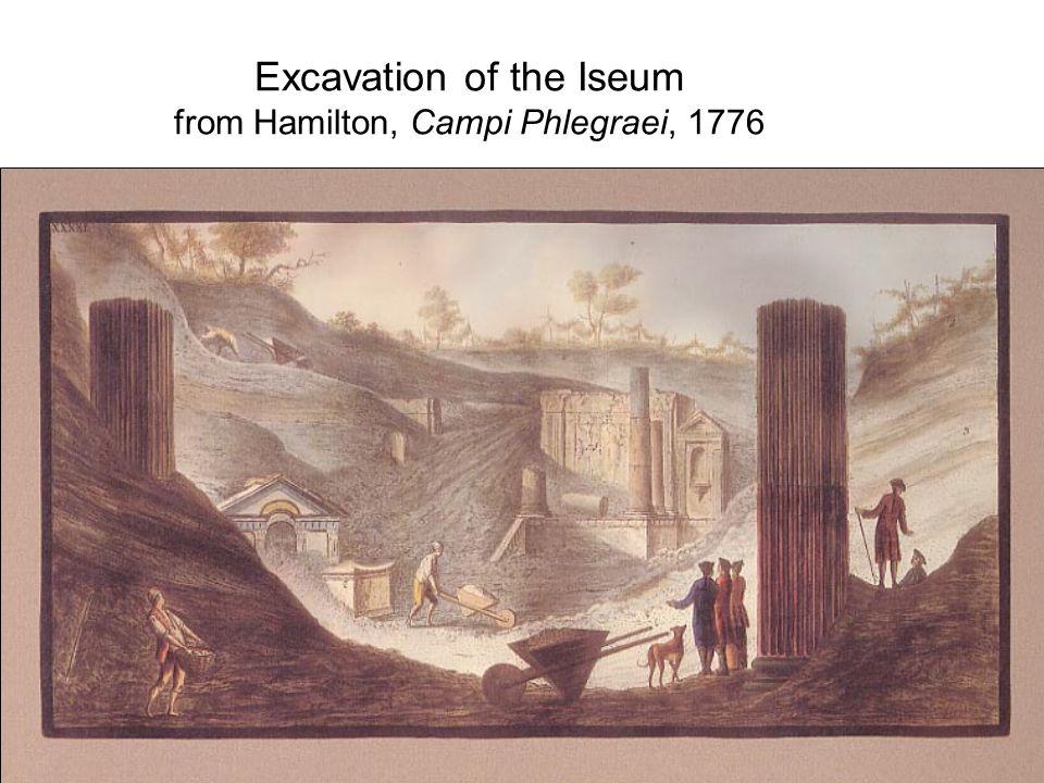 Excavation of the Iseum from Hamilton, Campi Phlegraei, 1776