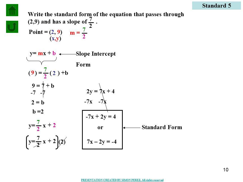 SLOPE INTERCEPT FORM AND POINT-SLOPE FORM - ppt video online download