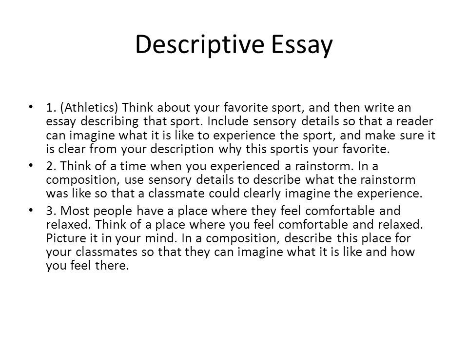 Write my descriptive essay introduction