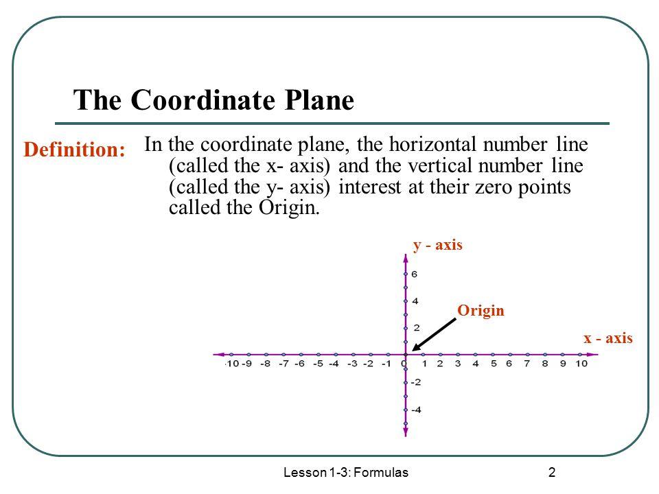 Lesson 1-3 Formulas Lesson 1-3: Formulas. - ppt download X Axis Definition