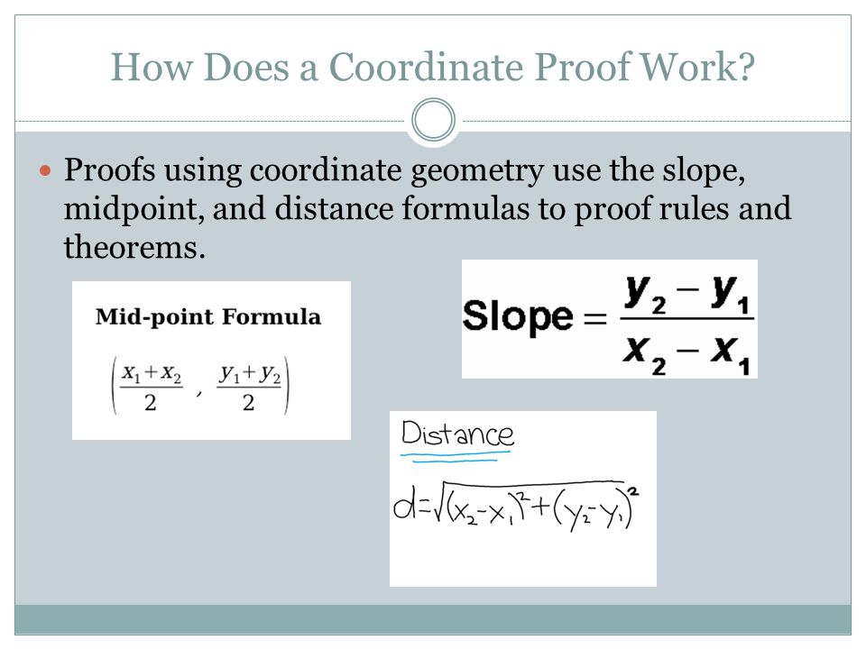 How Does a Coordinate Proof Work