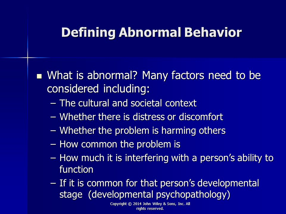 Abnormal behavior what is it