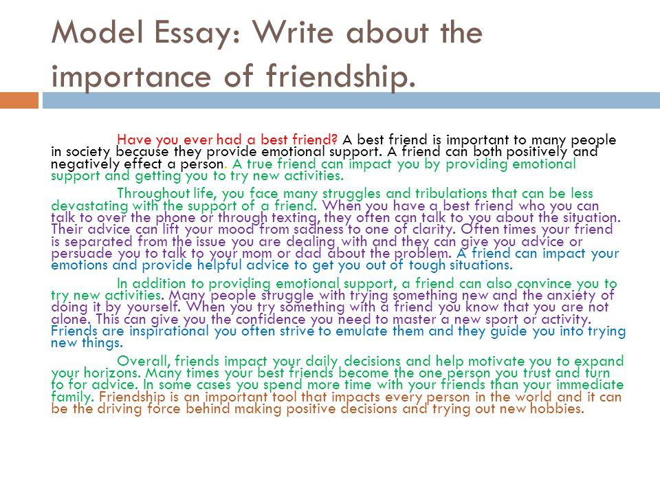 Frienship Essay