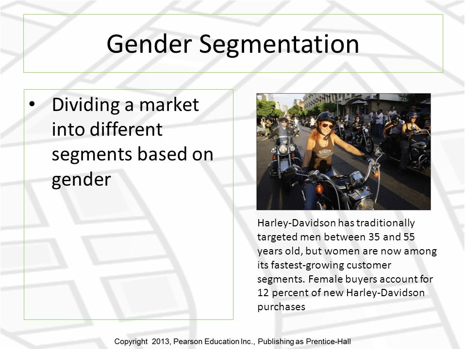 segmentation and targeting of harley davidson Geodemographic and behavioristic segmentation base the campaign target is advantages of harley davidson brand of reaching harley's highly mobile target.