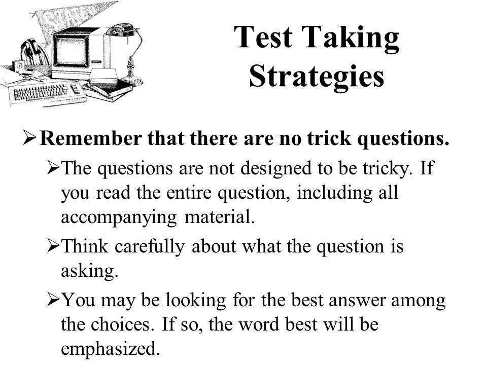 tricky test answer