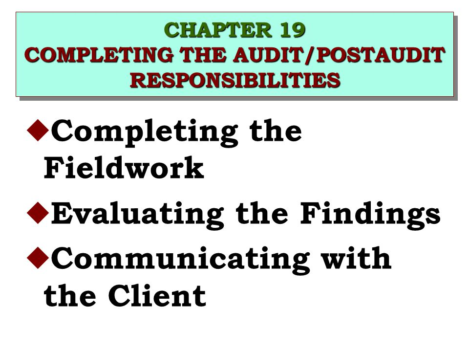 Completing the Audit | CPA Exam Auditing and Attestation
