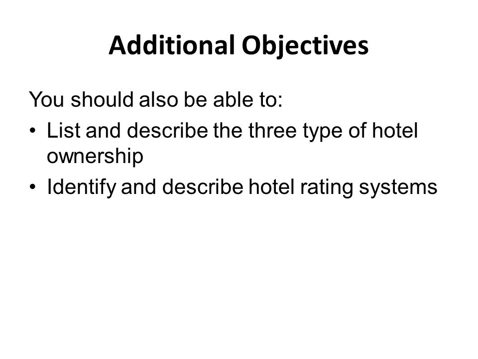 types of lodging ownership •guests may choose to stay in this type of hotel temporarily if their employer transfers them to a new city they can stay here while looking for a home.