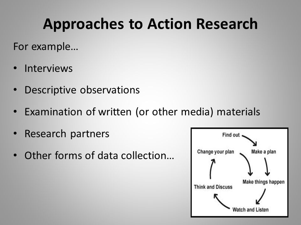 Approaches to Action Research