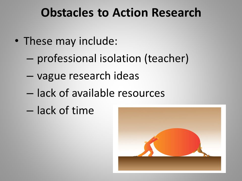 Obstacles to Action Research