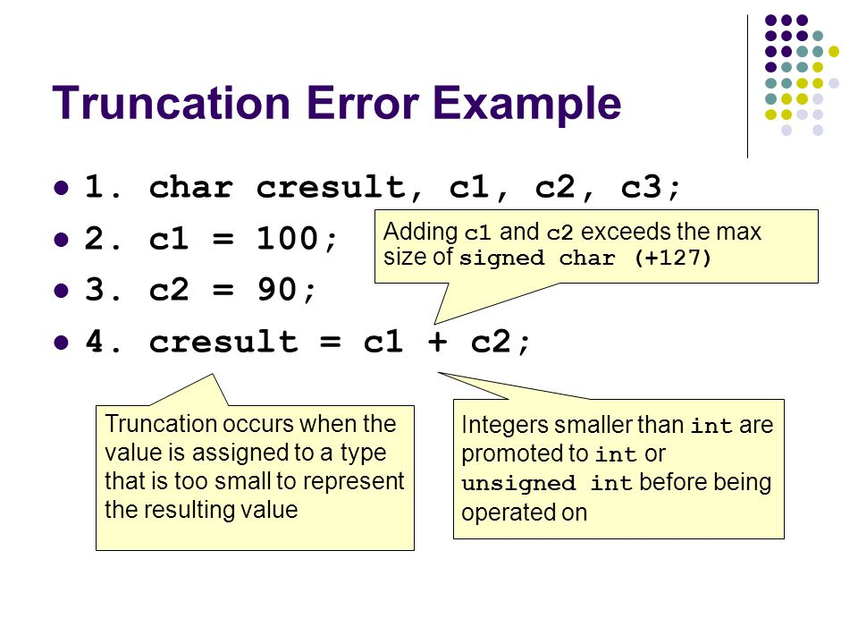 Secure Coding in C and C++ Integer Security - ppt download