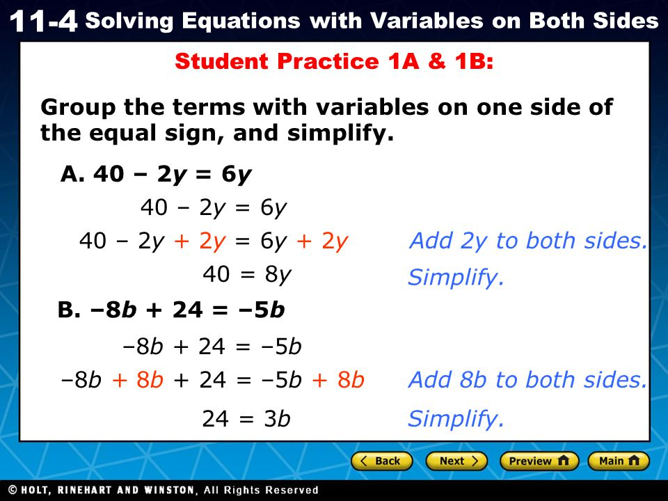 how to solve algebra equations with brackets on both sides