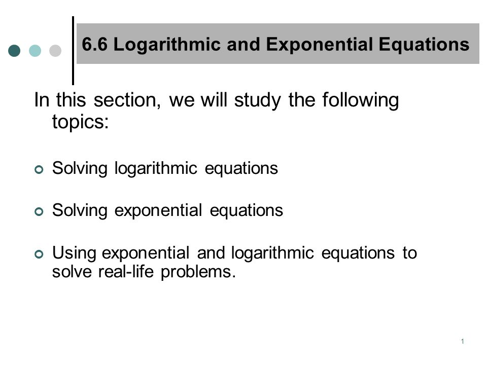 how to solve exponential problems