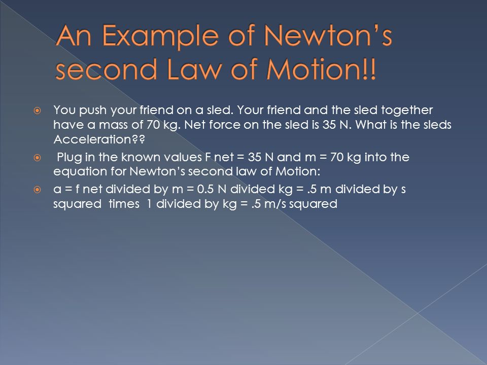 Newton's Second Law of Motion - ppt download