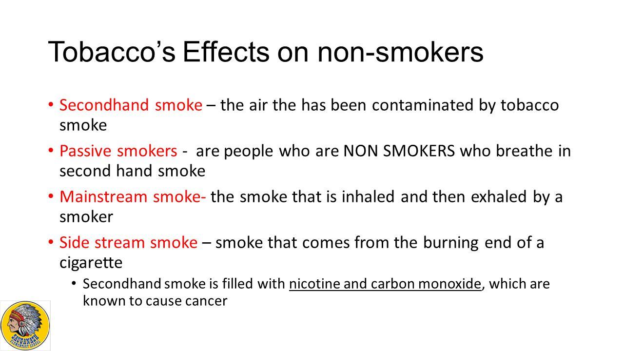 the negative effects of second hand smoke on non smokers and the environment This smoke is also referred to as second-hand smoke or environmental tobacco smoke the effects of passive smoking the scientific evidence about passive smoking shows us just how dangerous second-hand smoke really is.