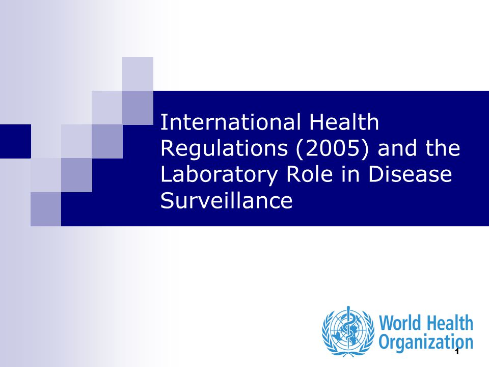 International Health Regulations (2005) and the Laboratory Role in Disease Surveillance