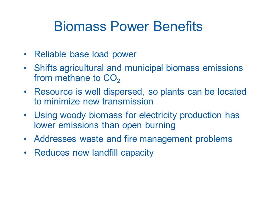 Biomass Power Benefits