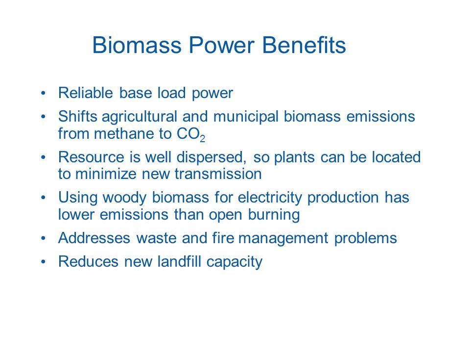 Biomass Power Benefits