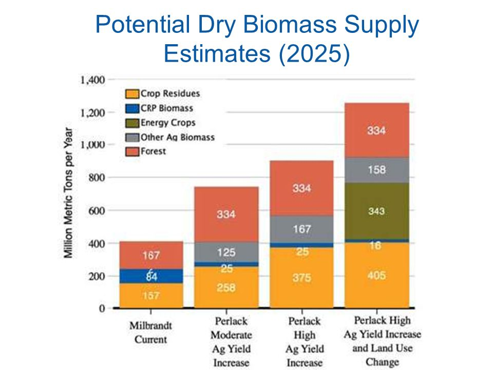 Potential Dry Biomass Supply Estimates (2025)
