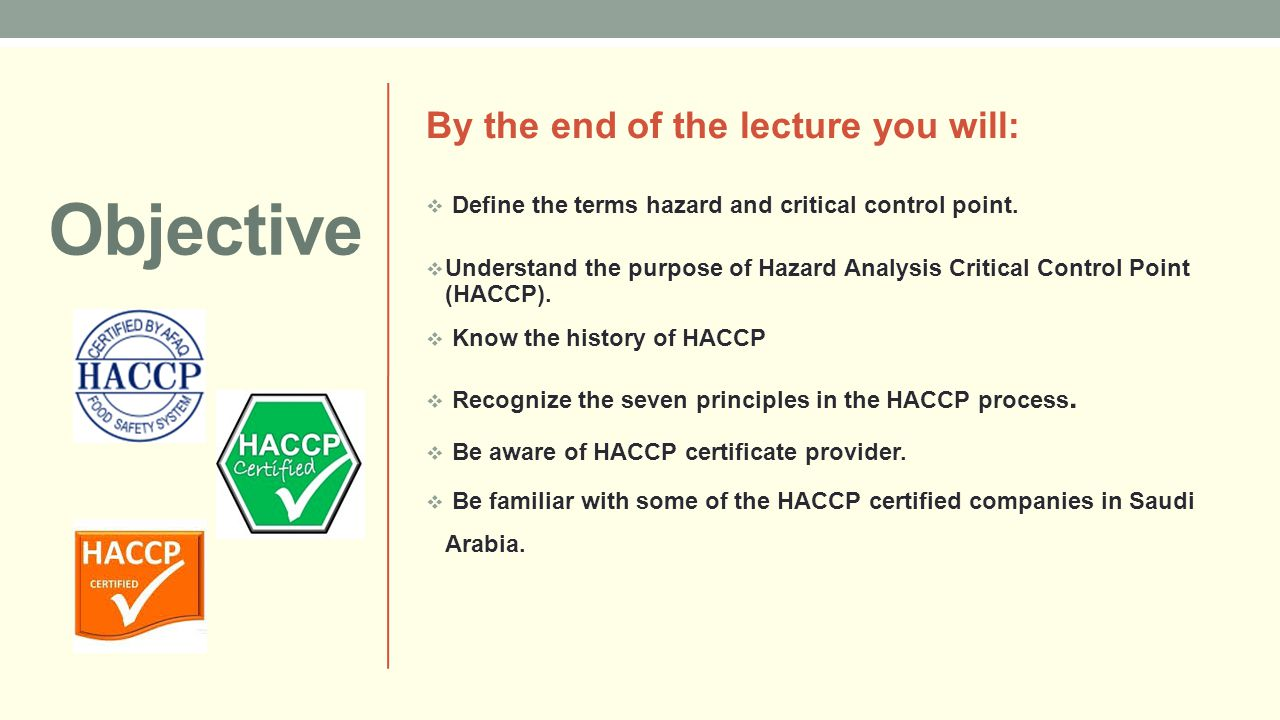 100 hazard analysis and critical control point haccp - Haccp definition cuisine ...