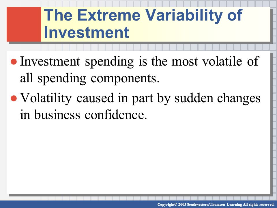 The Extreme Variability of Investment