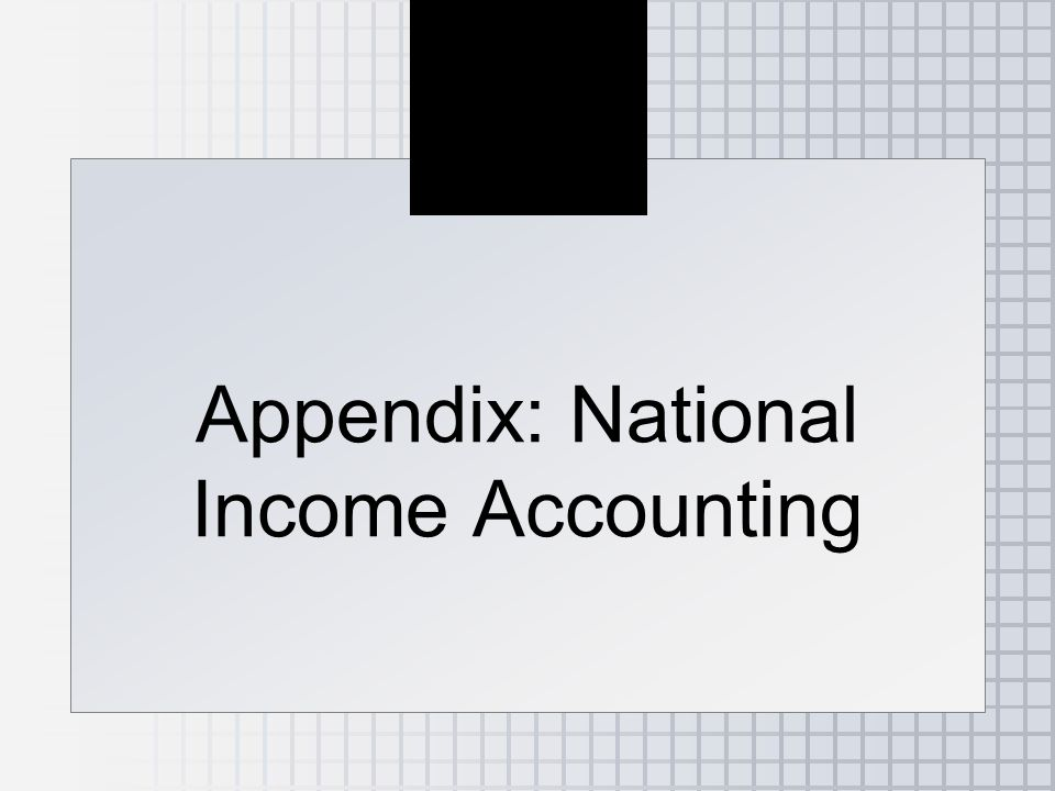 Appendix: National Income Accounting