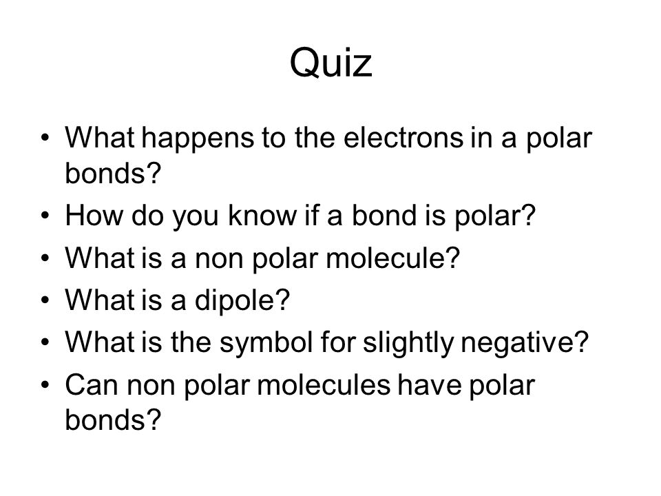 how to know which bonds are the most polar