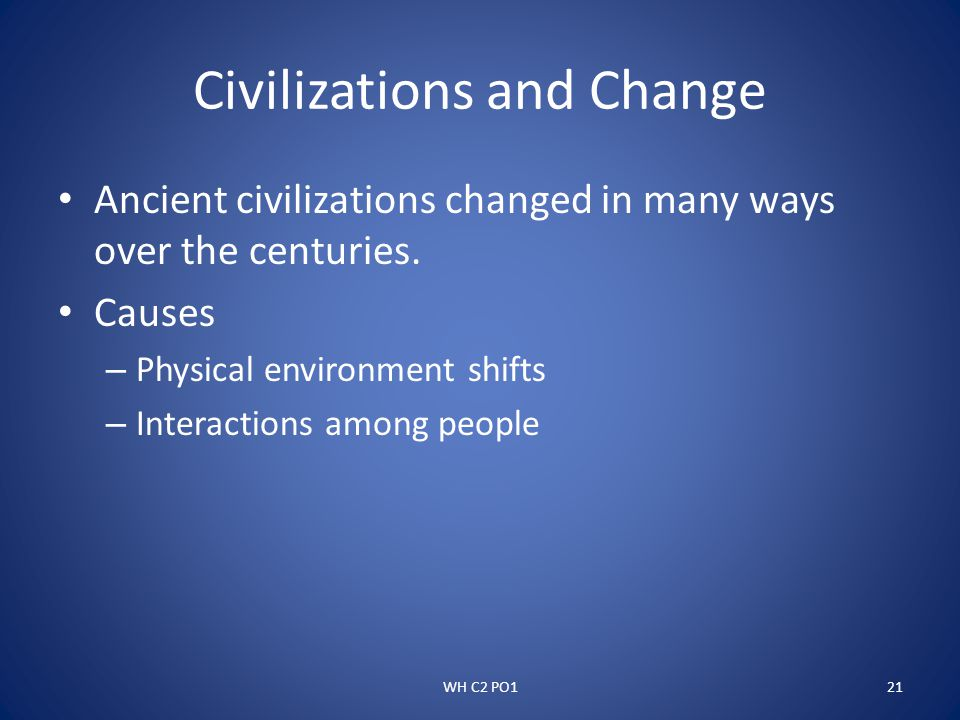 Civilizations and Change