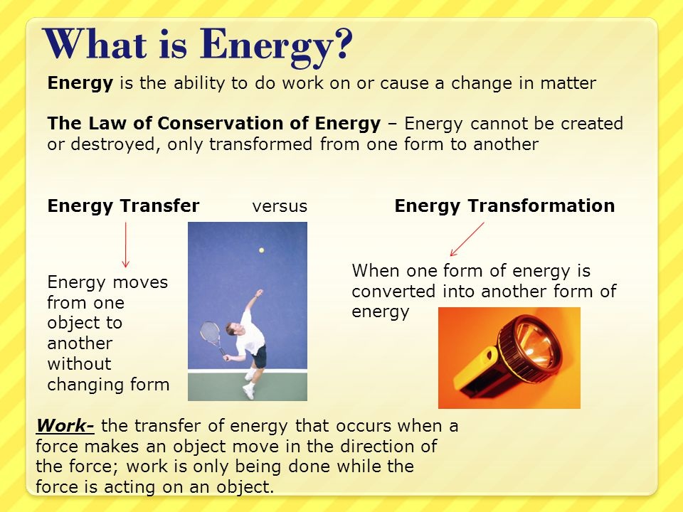 Energy and Energy Transformations - ppt download