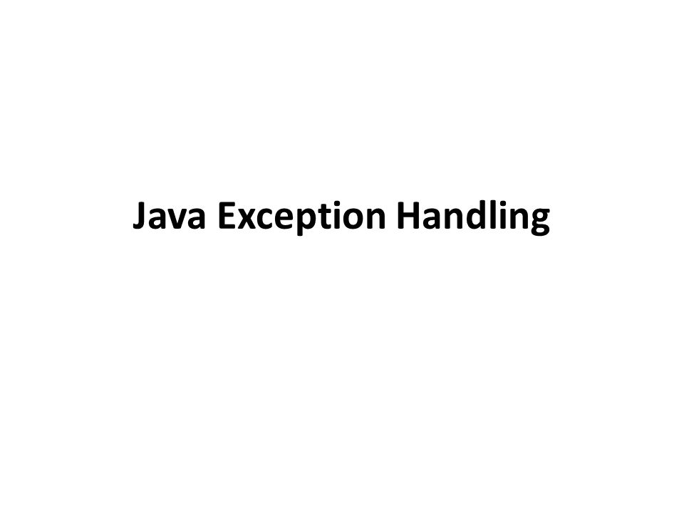computer science exception handling in java This java tutorial will teach you about exceptions in java learning exception handling is critical if you want to learn how to program with java it's easy ≡ menu.