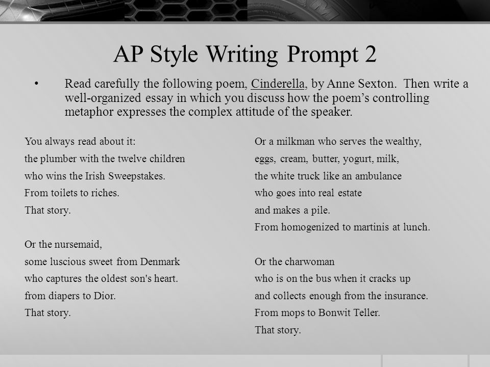 how to write an essay from a prompt