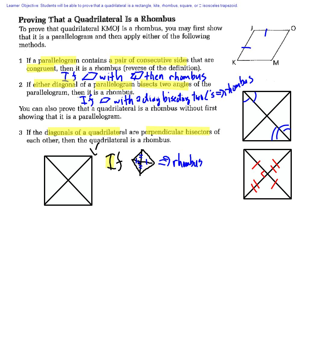 5 Learner Objective: Students Will Be Able To Prove That A Quadrilateral Is  A Rectangle