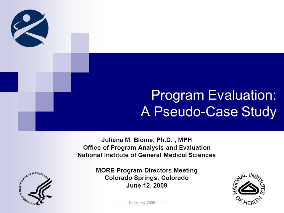 case study for program evaluation