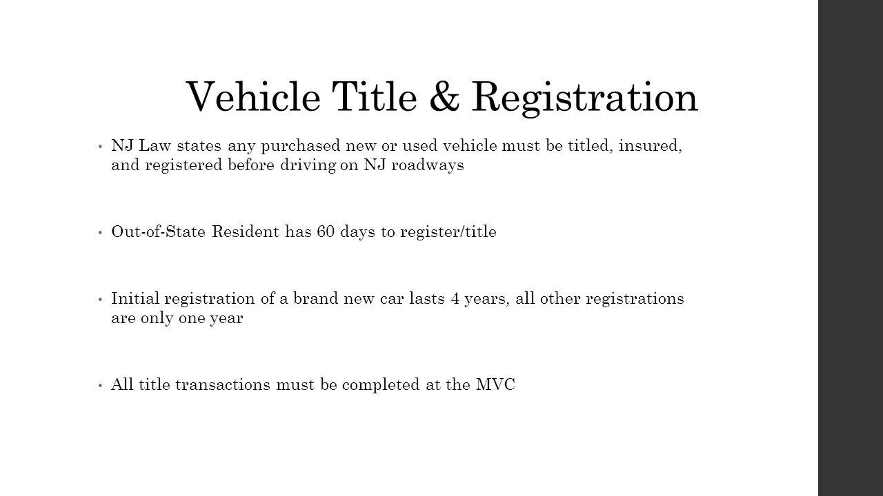 Chapter 9 vehicle information ppt download for Motor vehicle title registration