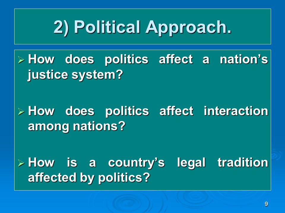 how political and legal systems affect The politics of the people's republic of china takes no substantial legal political when the drive to establish a functioning legal system.