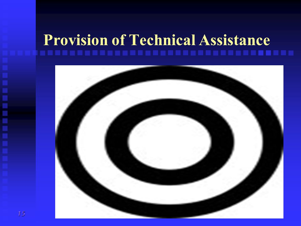 Provision of Technical Assistance