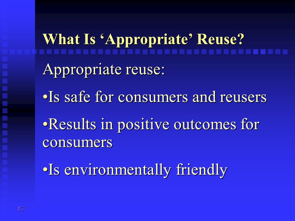 What Is 'Appropriate' Reuse