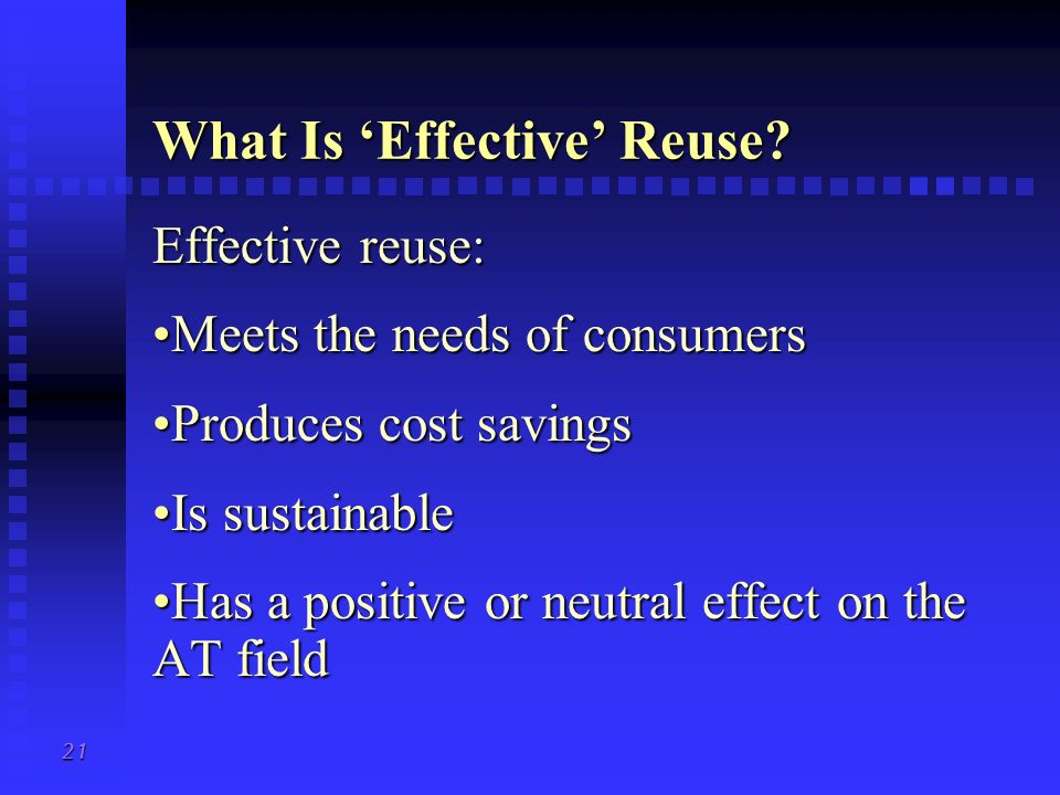 What Is 'Effective' Reuse