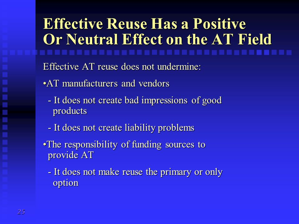 Effective Reuse Has a Positive Or Neutral Effect on the AT Field