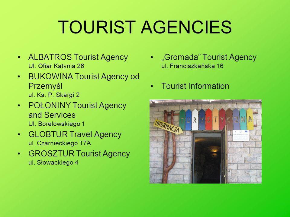 TOURIST AGENCIES ALBATROS Tourist Agency Ul. Ofiar Katynia 26