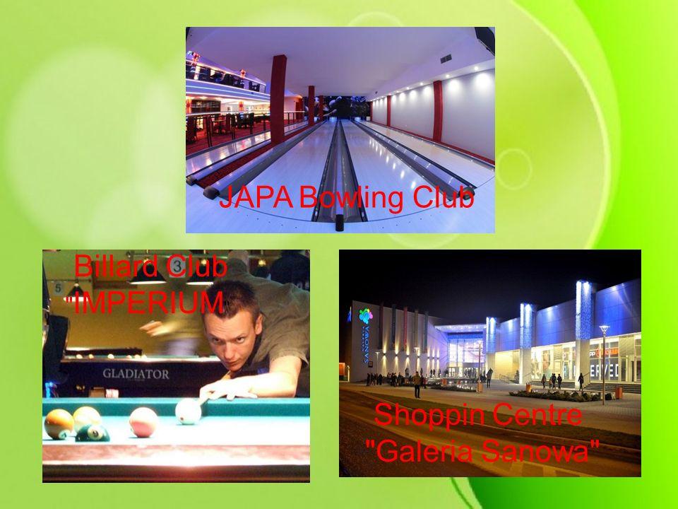 JAPA Bowling Club Billard Club IMPERIUM Shoppin Centre Galeria Sanowa