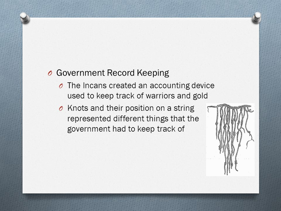 Government Record Keeping