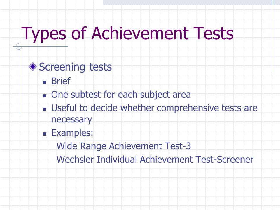 Educational Assessment of Children - ppt download