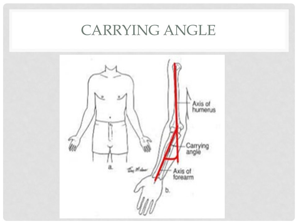 carrying angle に対する画像結果