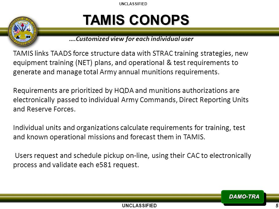 Army conop quantumgaming tamis transforming ammunition management information brief ppt powerpoint templates toneelgroepblik Images
