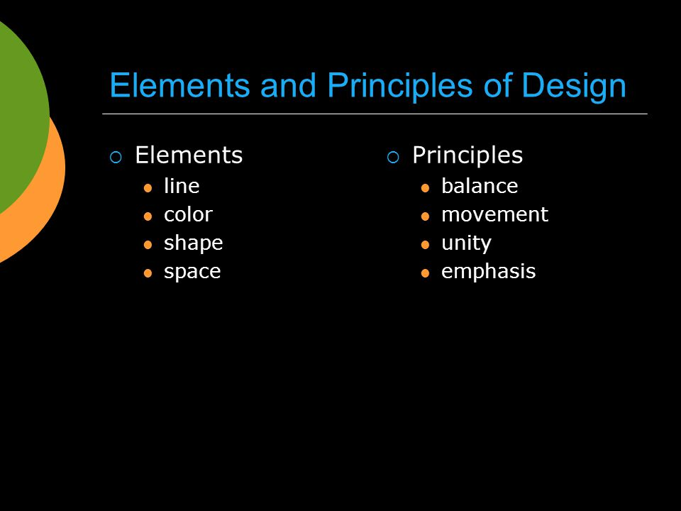 Elements And Principles Of Design Space : Graphic design my life as a movie ppt video online download