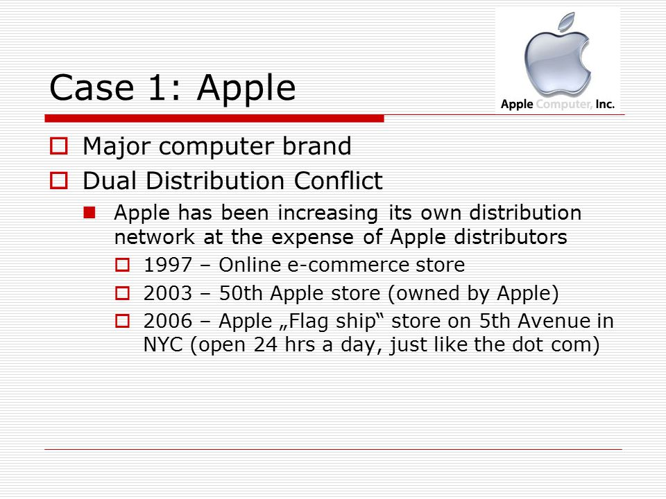 channel conflict at apple Apple computer, inc v microsoft corporation, 35 f3d 1435 (9th cir 1994), was a copyright infringement lawsuit in which apple computer, inc (now apple inc.