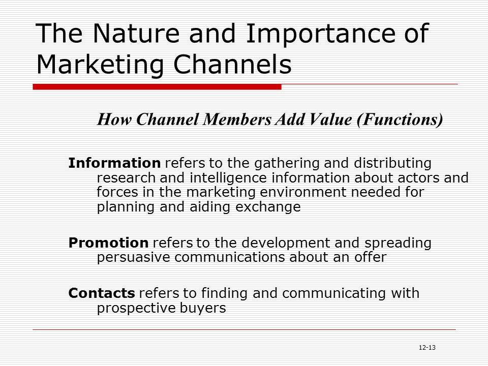 i the importance of channels of distribution All you need to know about distribution channels .