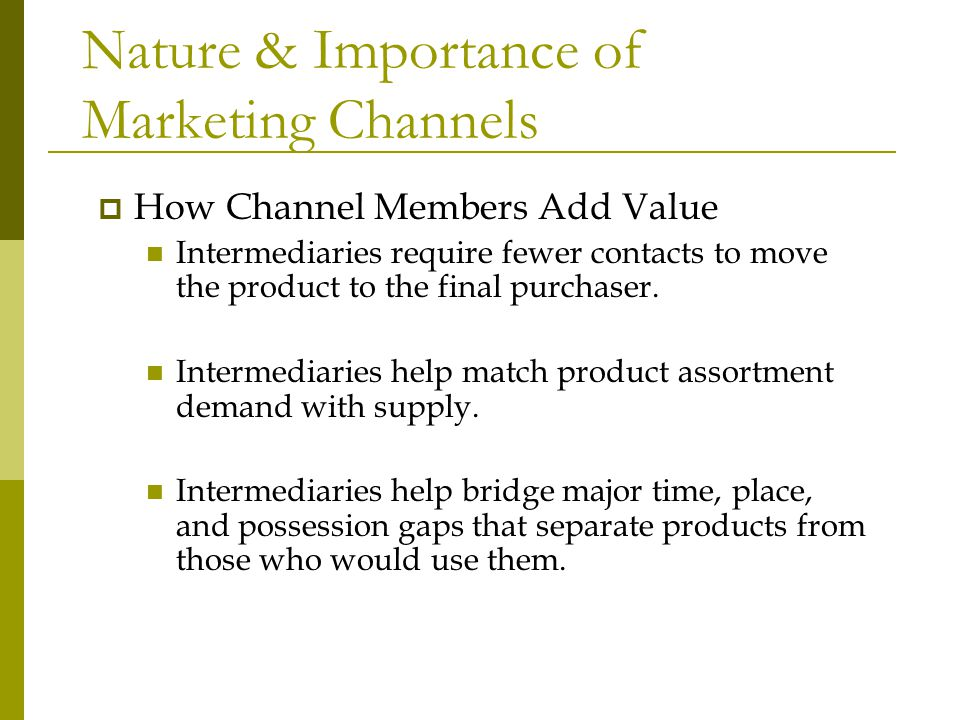 The Nature of Marketing Management