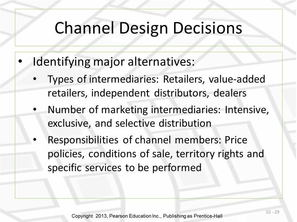 Marketing channel intermediaries