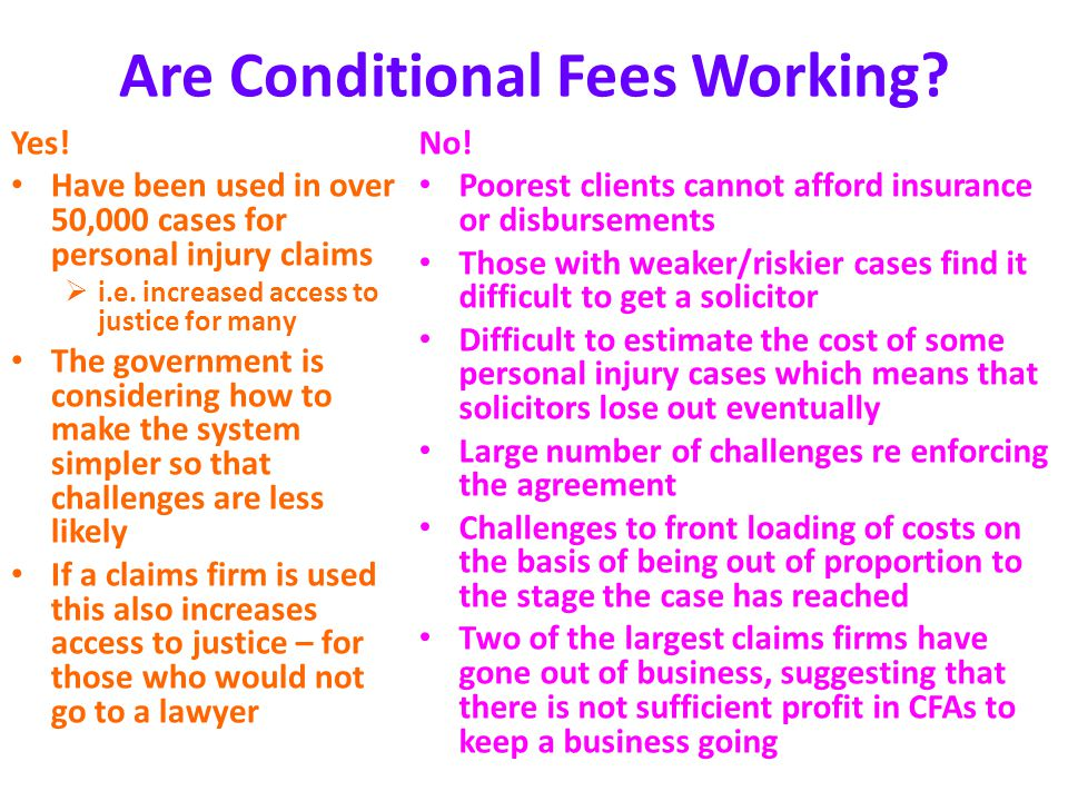 The legal profession other sources of advice and funding ppt are conditional fees working platinumwayz